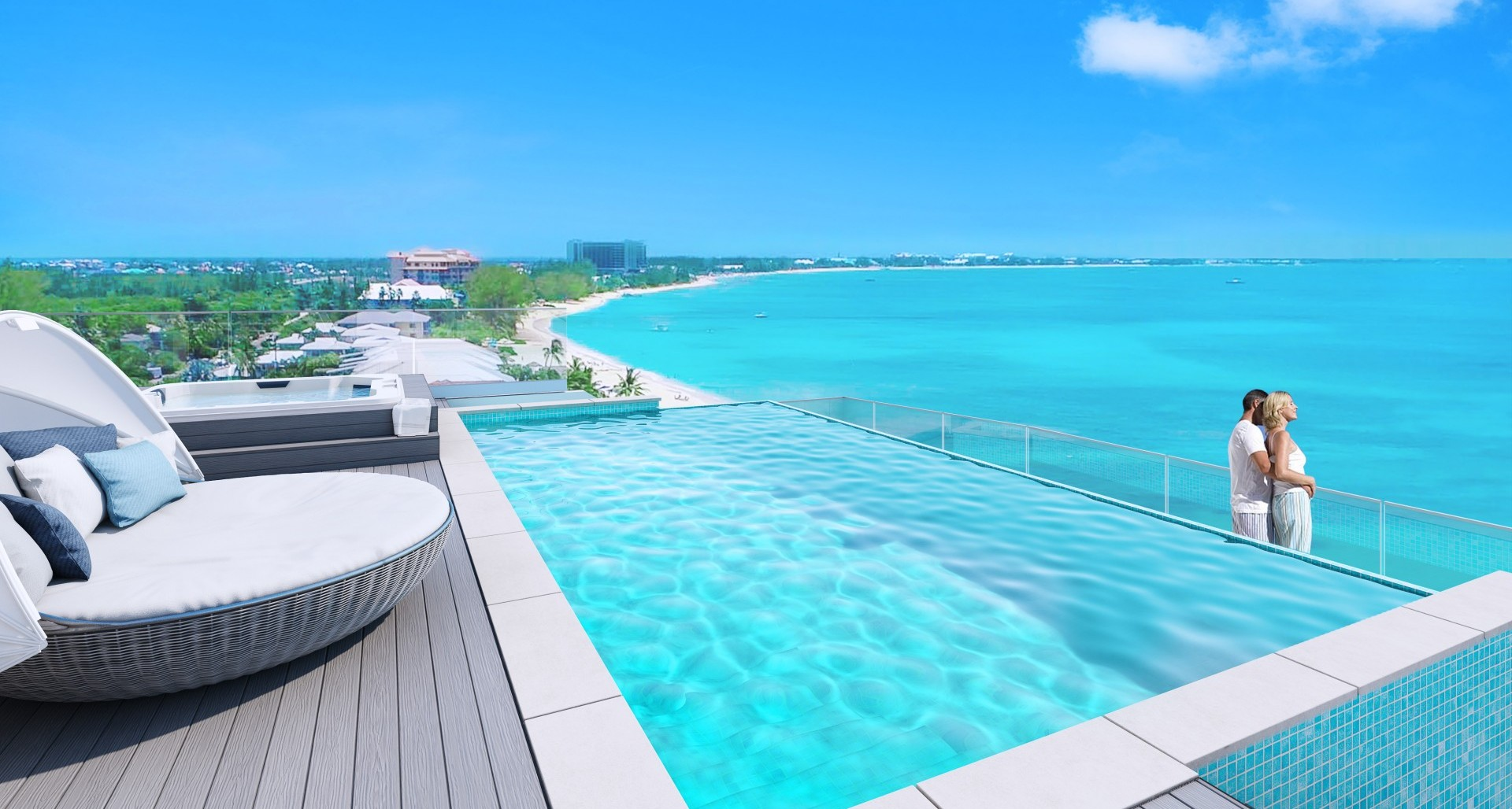 Aqua Bay – Corner 2 Level Penthouse – Private Pool
